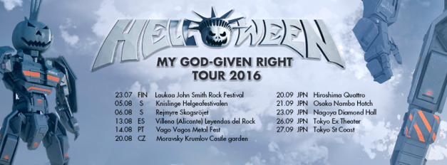 Helloween My God Given Right Japan Tour 2016