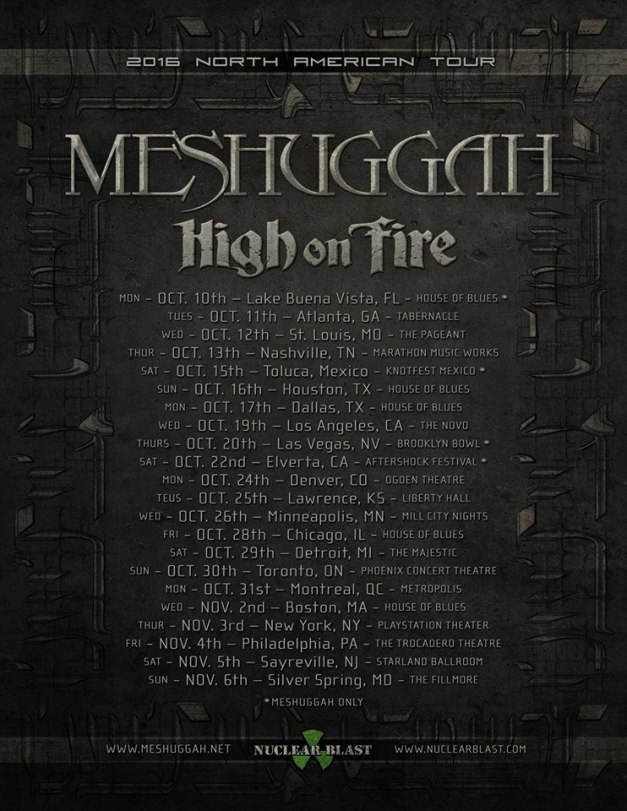 Meshuggah-NorthAmericanTour