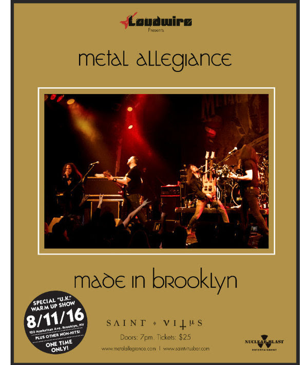 Metal Allegiance Made in Brooklyn Show 2016