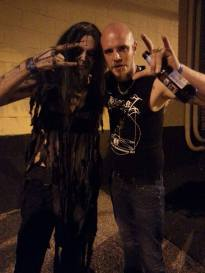Photo selection from the tour, here with SHINING's Niklas Kvarforth \m/