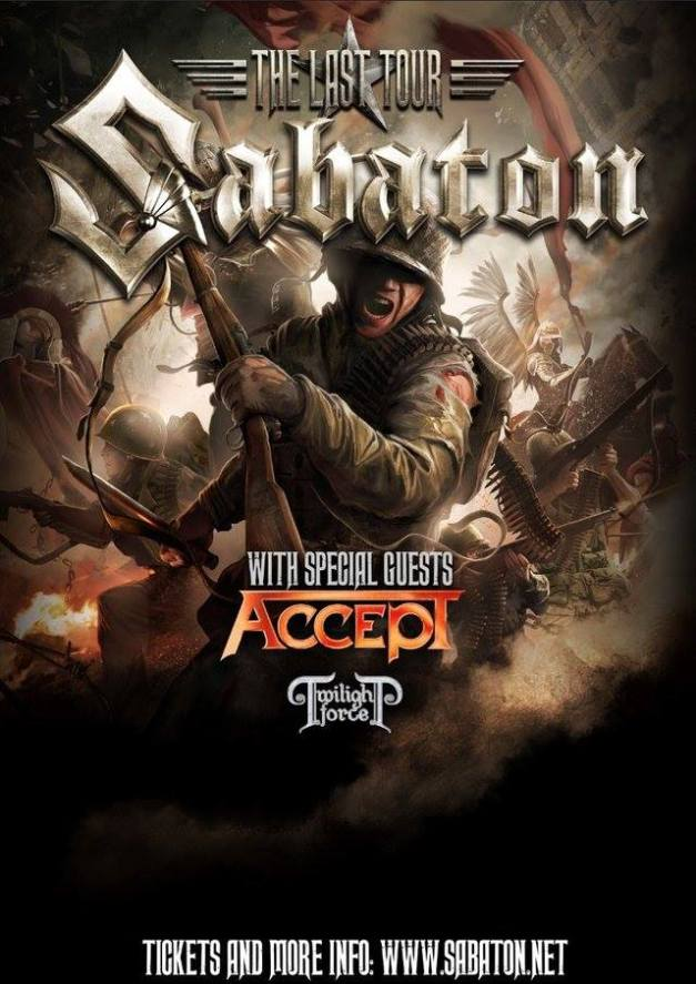 Sabaton The Last Tour With Twilight Force
