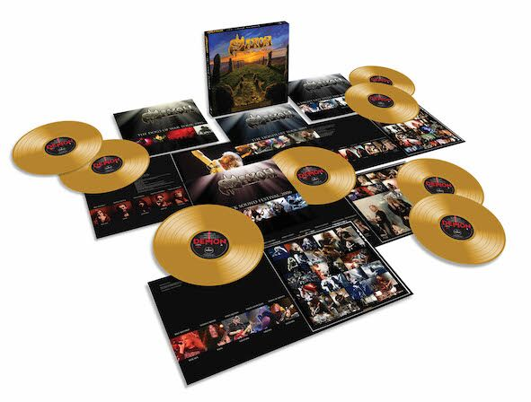 Saxon The Vinyl Hoard Gold Discs