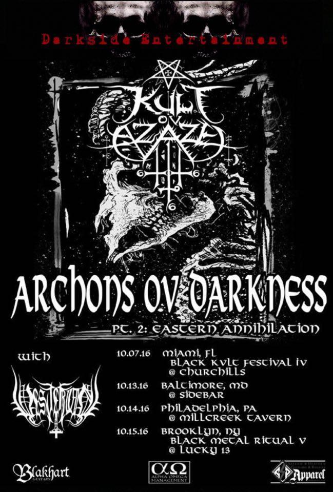 "KULT OV AZAZEL Announce ""Archons of Darkness II – Eastern"