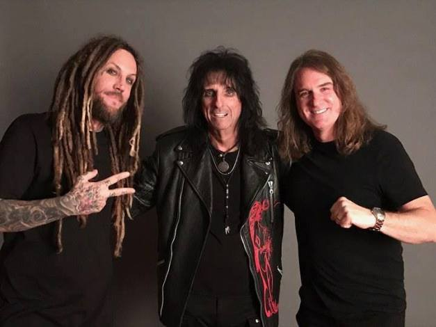 Photo: David Ellefson with Alice Cooper and Brian Head Welch (Korn) at DAYS of the DEAD