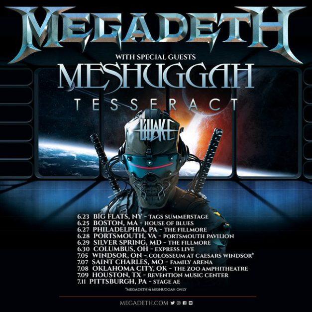 Megadeth-Meshuggah-tour