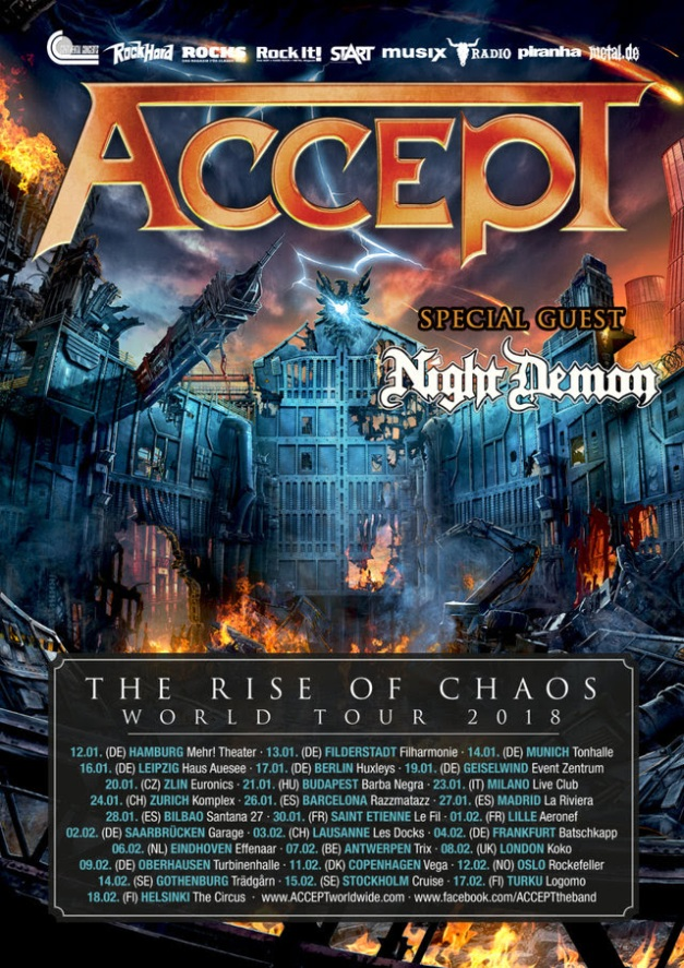 Accept Night Demon European Tour 2018