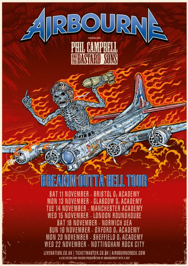 Airbourne Tour Poster 2017