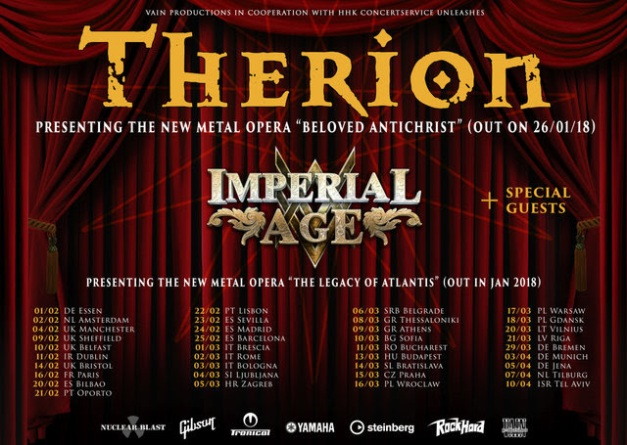 Therion Metal Opera Tour 2018