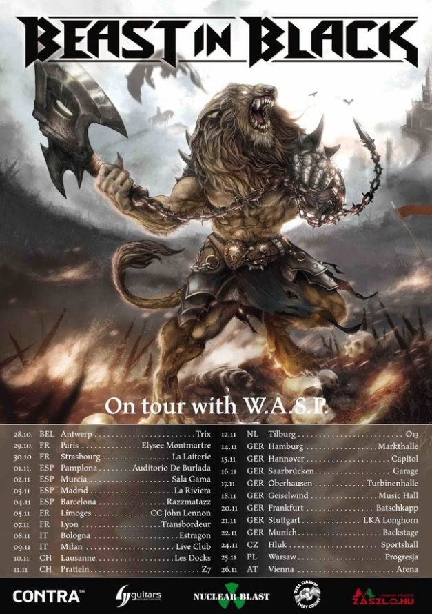 Beast In Black Tour with WASP 2017