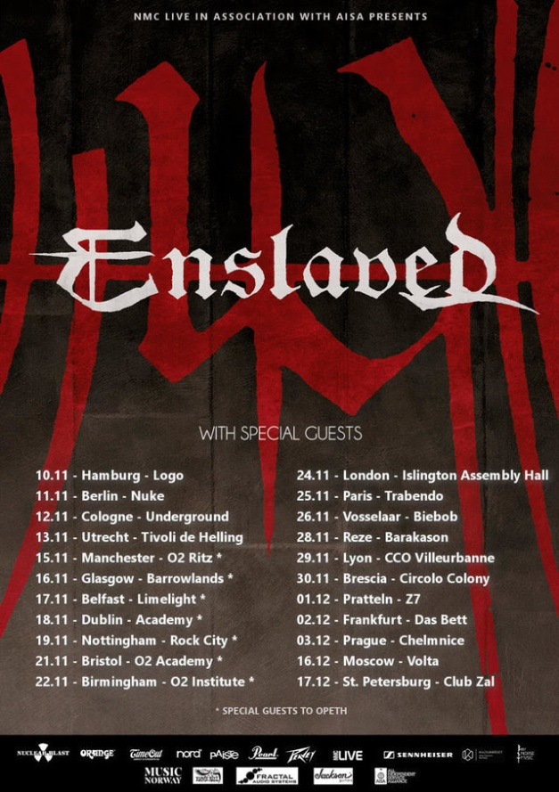 Enslaved European Tour 2017