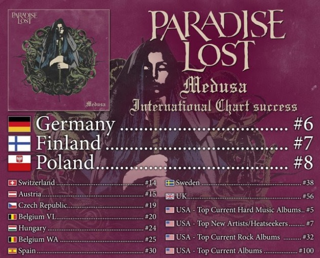 Paradise Lost Medusa Chart Positions