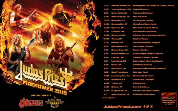 Judas Priest North American Tour 2018