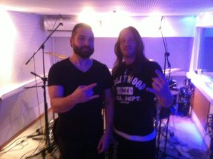 Samuel with Fotis from SepticFlesh