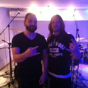 Samuel with Fotis from SepticFlesh