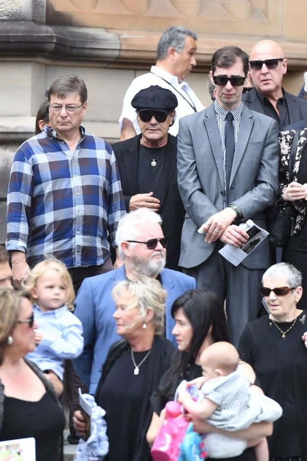 Brian Johnson Malcolm Young Funeral