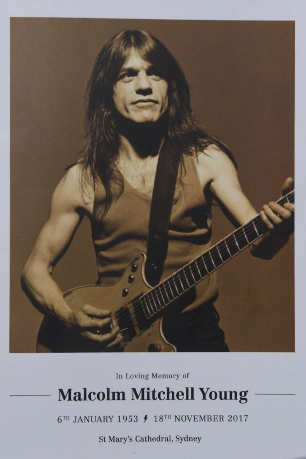 Malcolm Young Funeral Programme