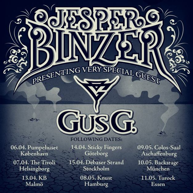 Jesper Binzer Euro Tour 2018 with GUS G