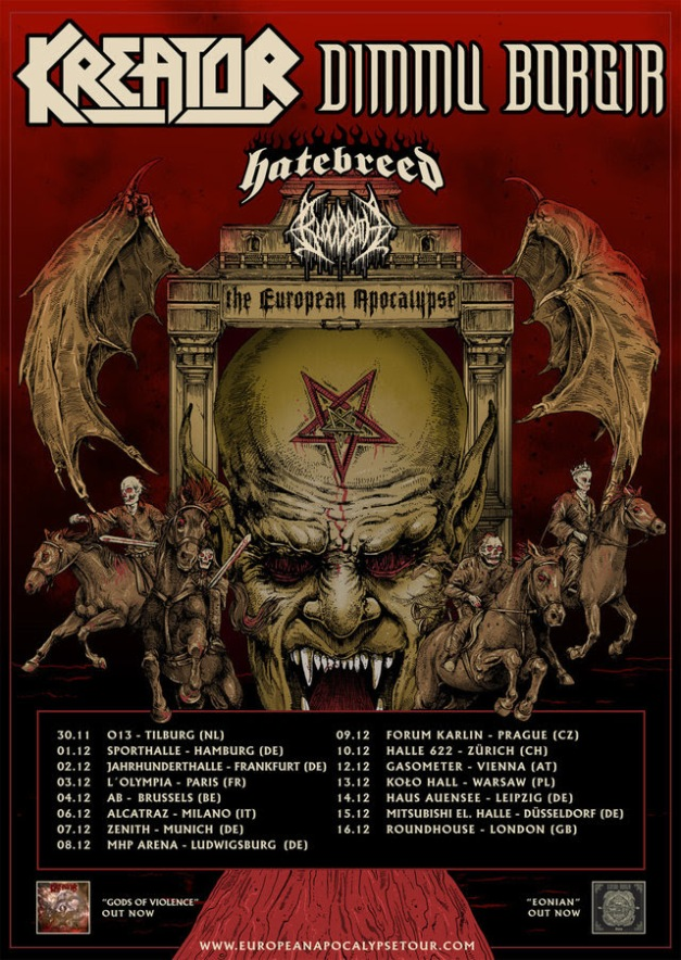 The European Apocalypse Tour 2018