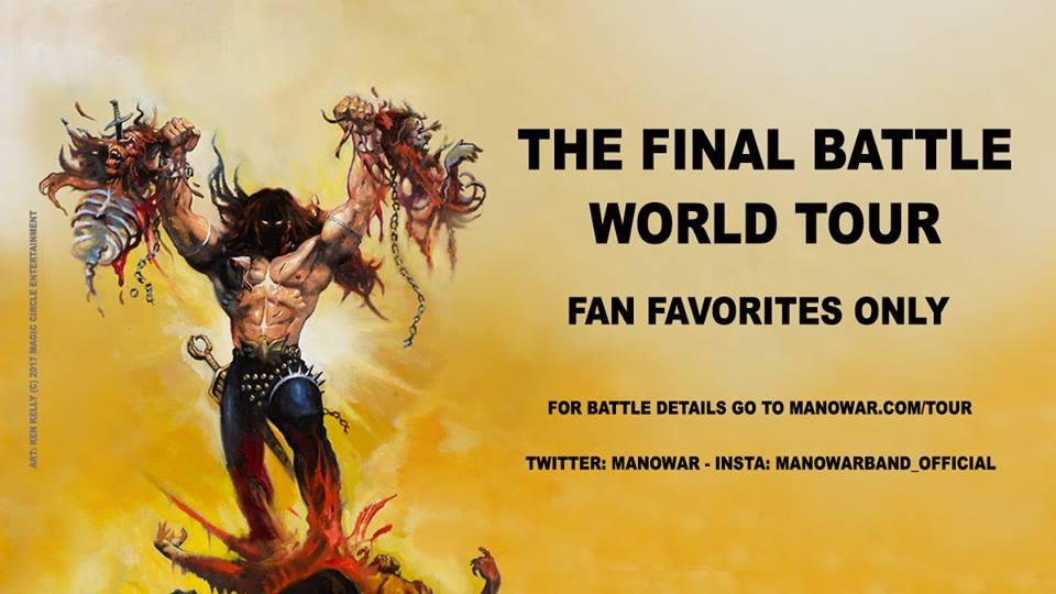 Manowar apresenta novo guitarrista que substituirá  Karl Logan na 'The Final Battle World Tour' Manowar-tour