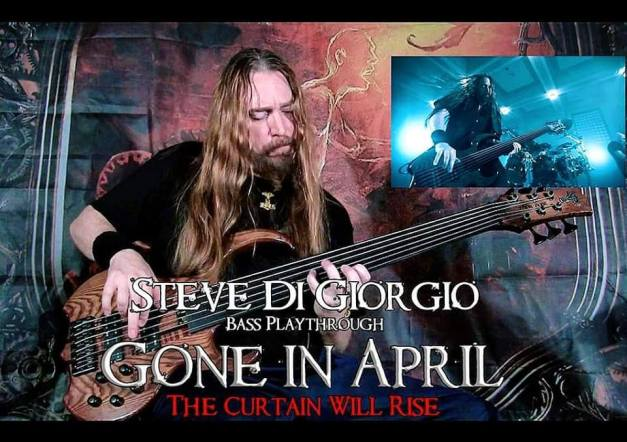 GONE IN APRIL Release The Curtain Will Rise bass playthrough Video