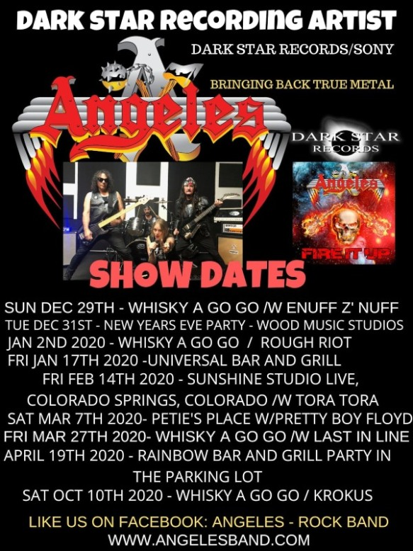 New Shows 2020.Angeles Announce Two New 2020 Shows With Tora Tora Krokus